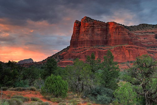 travel trees sunset arizona sky usa southwest color nature clouds landscape sand sandstone day desert sundown cloudy sedona redrocks hdr 3030 coloradoplateau 3031 courthousebutte 3032 3exp 3stopgnd abigfave nikond80 sedonaschnebly hitechfilters richgreenephotography