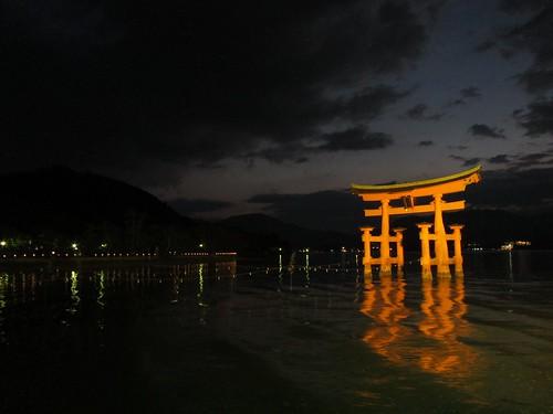 The gate of Itsukushima shinto shrine