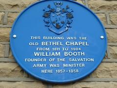 Photo of William Booth blue plaque