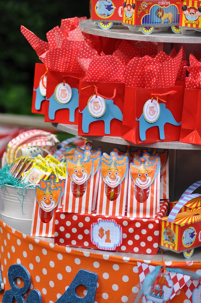 Circus Carnival Birthday Party Prizes Goodie Bags