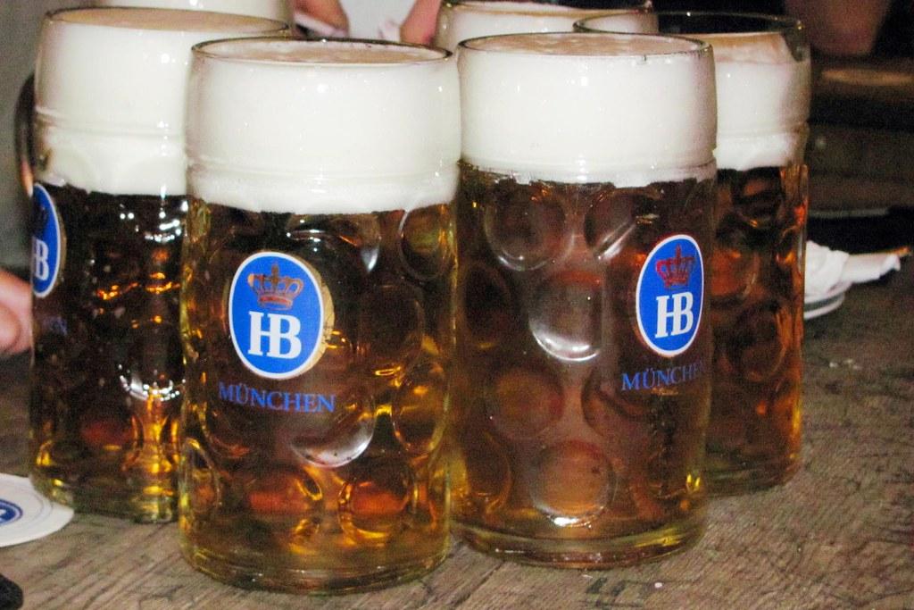 Steins of German beer - traditional German food - what to eat in germany