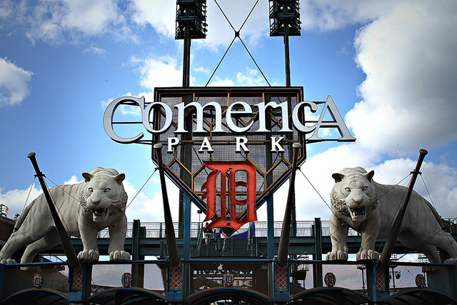 Comerica Park Entrance Flickr