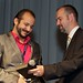 Fri, 2011-07-22 13:19 - Dedicated MILSET volunteer Gregoire Padilla received an award from Jozef Ristvej, President of AMAVET - the Slovakian host organization of MILSET ESI 2011.