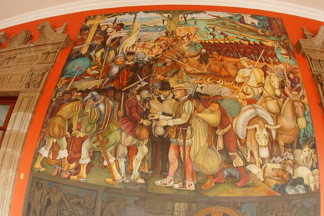Mural de diego rivera en el palacio nacional ciudad de for Diego rivera mural palacio nacional