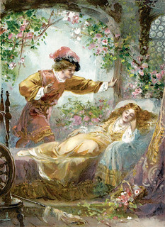 "Ambrose Dudley (fl. 1920s), ""The Prince finds the Sleeping Beauty"""