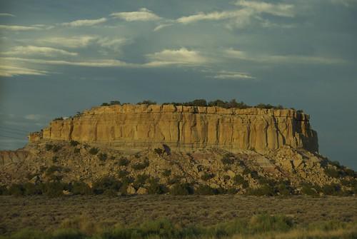 sunset newmexico rock us highway raw desert dusk formation layers mesa 550 geologic