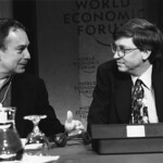 Michael Bloomberg and Bill Gates - World Economic Forum Annual Meeting 1996