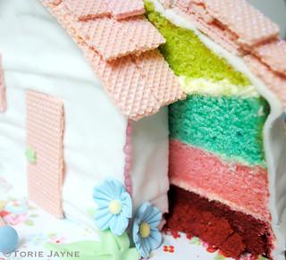 Coloured cake inside