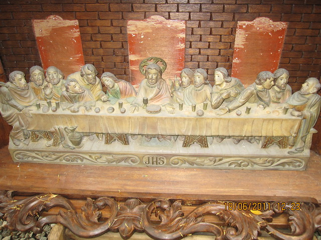 Last supper carved wooden relief flickr photo sharing
