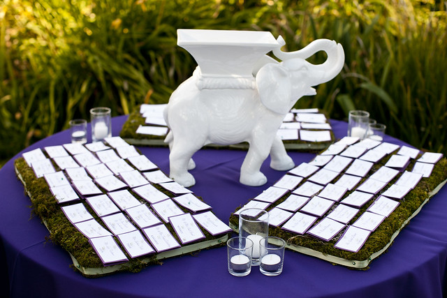 Escort Card Table Wedding Reception at the Santa Barbara Zoo on May 29