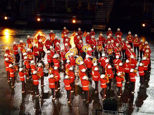 Marching bands at Royal Edinburgh Military Tattoo, Scotland