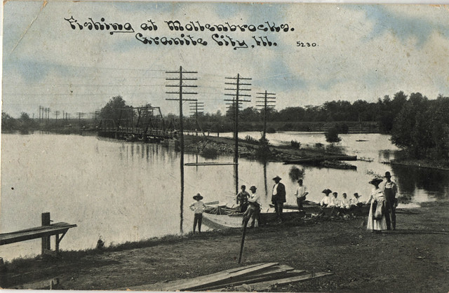 Postcard fishing at mollenbrocks granite city illinois for Illinois fish farms
