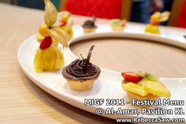 Review migf 2011 festival menu al amar pavilion kl for Al amar lebanese cuisine