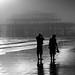 West Pier - Low Tide and Sea Fog by Alan MacKenzie