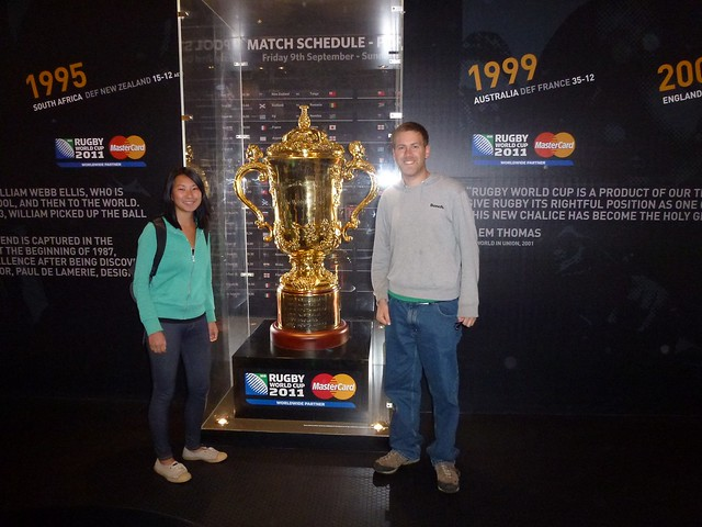 Us with the Webb Ellis Trophy