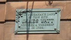 Photo of James Watt bronze plaque