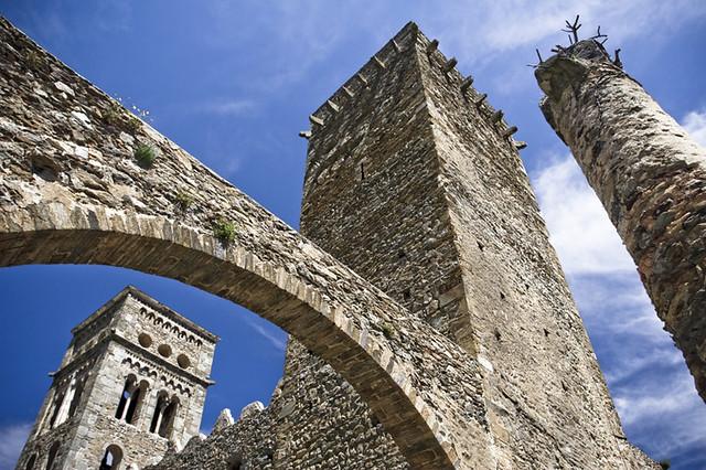 Sant Pere de Rodes. Imatge: Norto Méndez - D.G. del Patrimoni Cultural. Llicència Creative Commons Reconeixement - No comercial - Sense obres derivades
