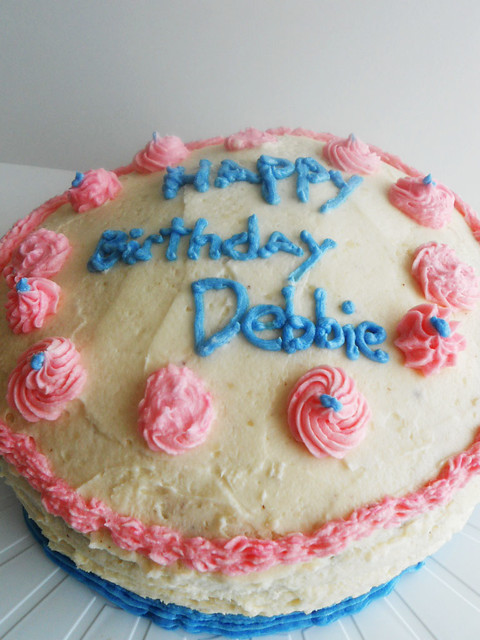 Happy Birthday Debbie Fire Cake