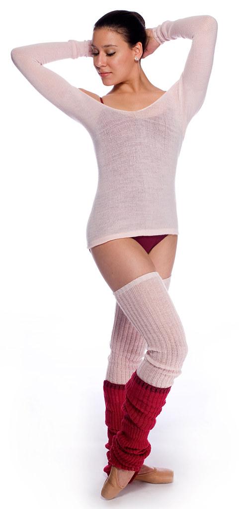 Pink Ballet Neck Top   Thigh High Legwarmers by KD dance M…  5cad89a1719