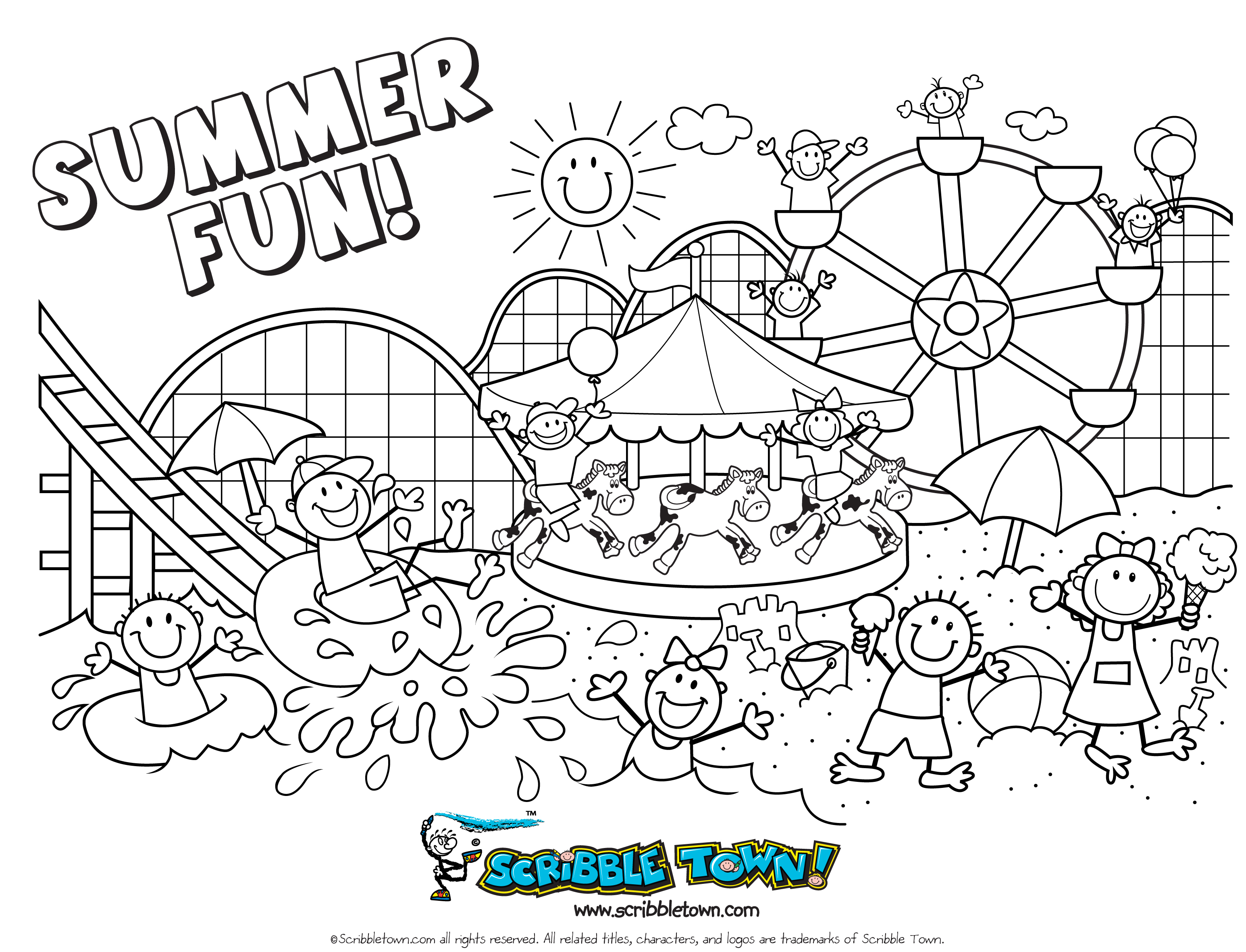 Sunny Designs For Girls Colouring Pages