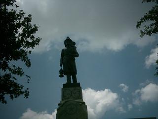 Volunteer firefighter statue, austin, texas