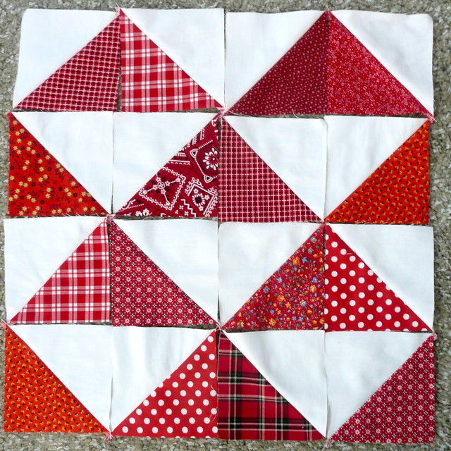Quilting Patterns For Triangles : Half Square Triangle Quilt Blocks Flickr - Photo Sharing!