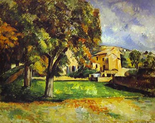 Paul C\351zanne - Trees in Park. The Jas de Bouffan