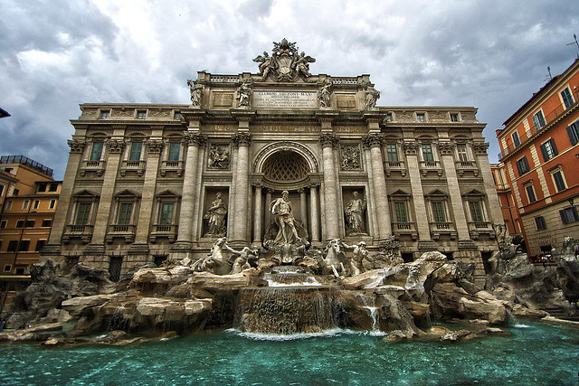 City of Rome And Its Magnificent Trevi Fountain