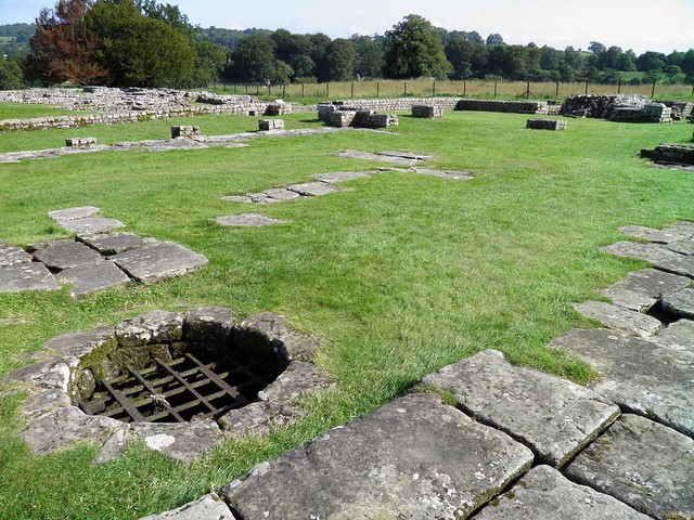 The Headquarters Building, the Courtyard, Chesters Roman Fort