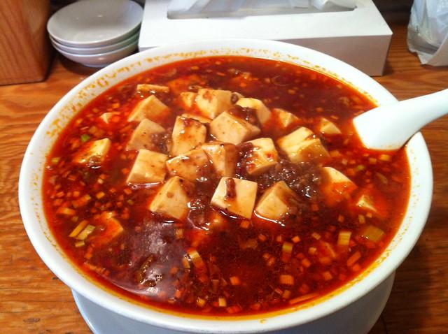先週食った麻婆豆腐ラーメン激辛