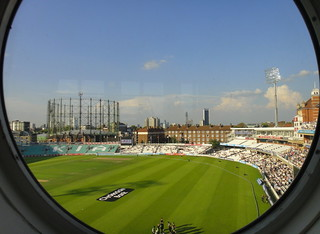 The Kia Oval - Aug 2011 - London Skyline
