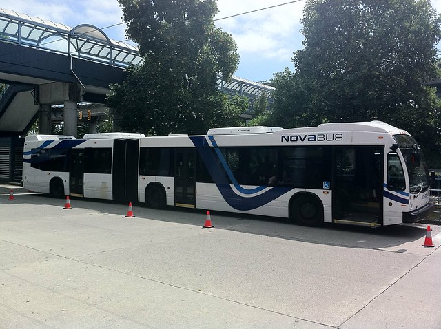 Nova Bus LFX at Metrotown Station