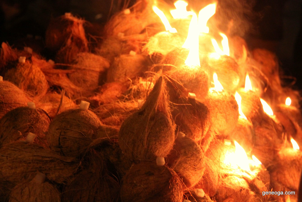 Coconuts on fire