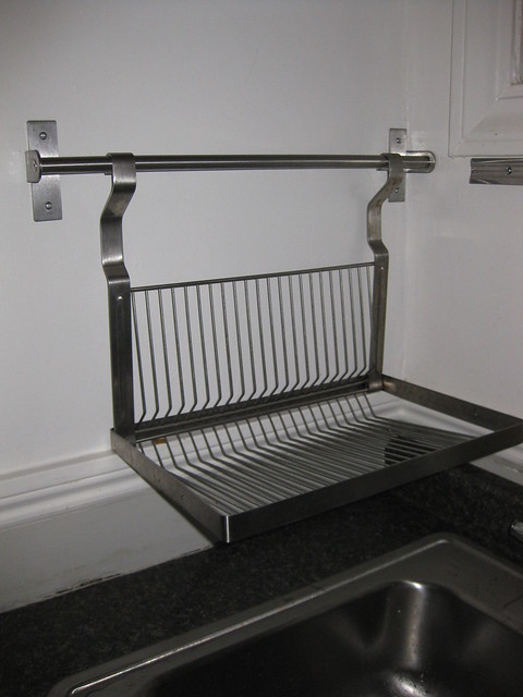 Ikea grundtal dish drainer wall rack w o rail 12 Small stainless steel dish drying rack