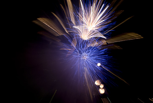 Nottingham Riverside Festival Fireworks - Abstract- a melody of sparks