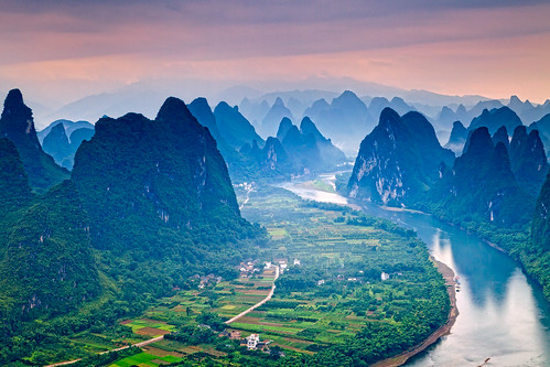 china travel mountains sunrise landscape photography liriver day cloudy guilin
