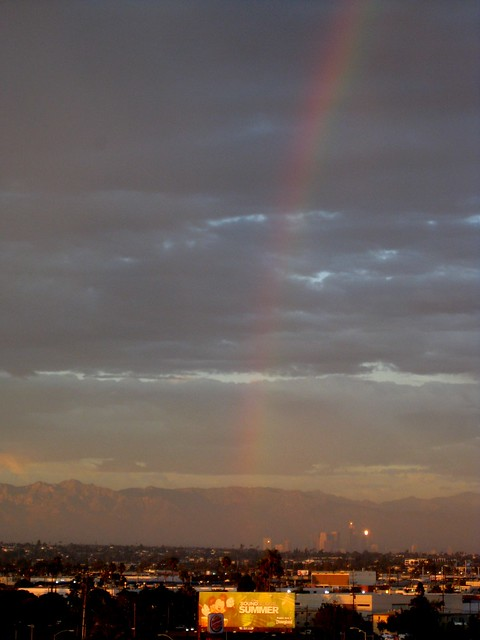 Downtown LA Rainbow at Sunset