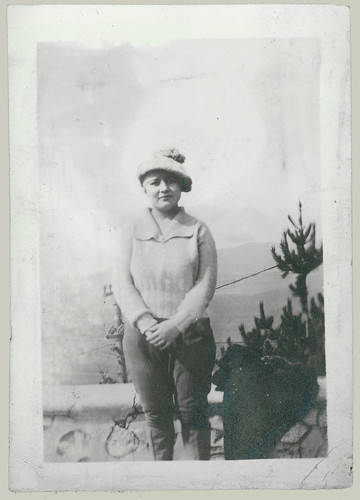 Girl with cap and jodhpurs