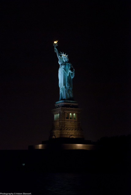 Statue Of Liberty At Night Time Statue of Liberty at N...