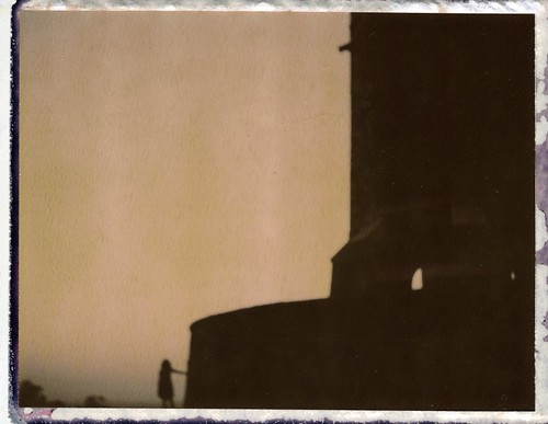 camera sunset tower film polaroid dusk chocolate automatic land instant 100 blury foxhill 2011 roidweek