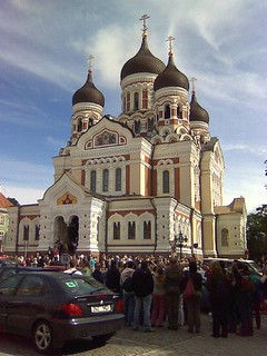 The Aleksander Nevski Cathedral, taken on the guided tour of Tallinn and Pirita