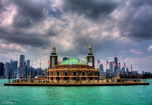 Navy Pier, located on Lake Michigan in Chicago