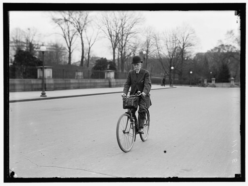 Alvey Adee of Dept of State riding Bicycle