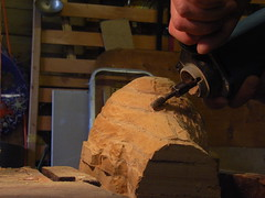 Router carving automaton head