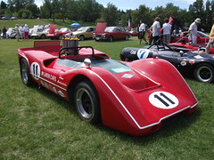 maserati 450s(0.0), open-wheel car(0.0), porsche 906(0.0), supercar(0.0), race car(1.0), automobile(1.0), vehicle(1.0), sports prototype(1.0), vintage car(1.0), land vehicle(1.0), sports car(1.0),