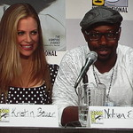 Kristin Bauer and Nelson Ellis of True Blood
