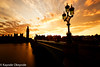 Westminster Sunset and Street Lamp