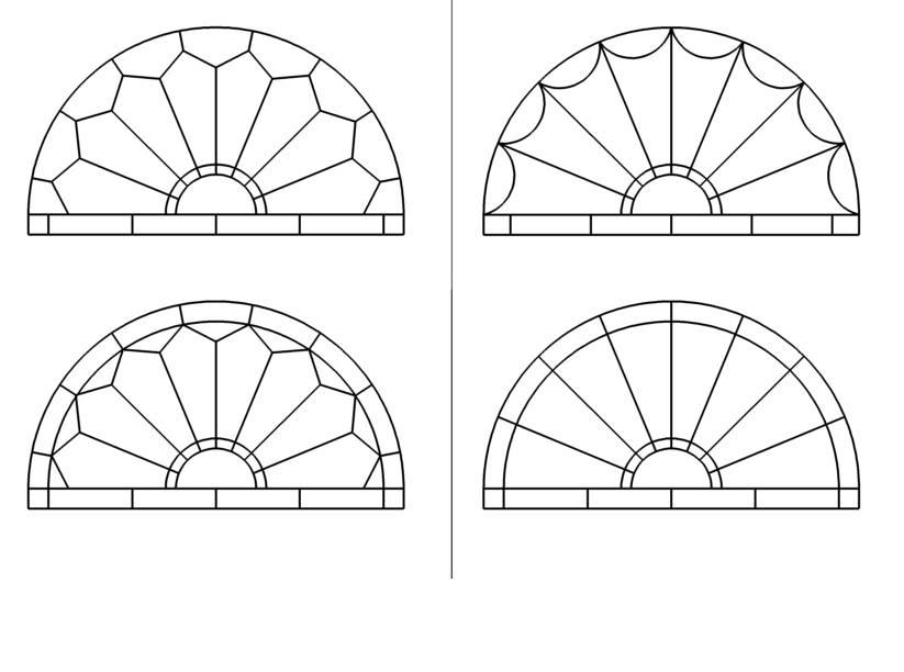 Stained Glass Fan Style Window Patterns Fan Style