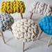 Claire-Anne O'Brien giant knit stool 1 by Outi Les Pyy / OutsaPop Trashion DIY fashion