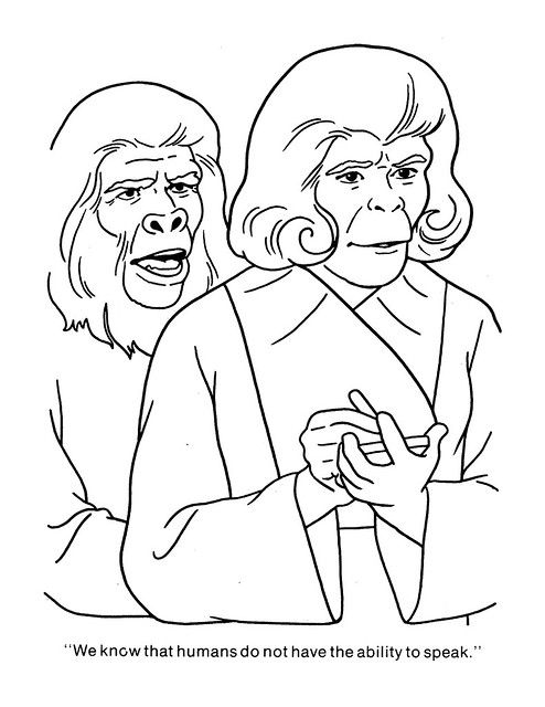 Planet of the Apes Coloring Book 0200034